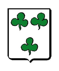 Wappen: in Silber drei grüne (gestielte und gestürzte) Kleeblätter.