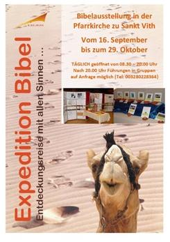 Ostbelgien - Bibelausstellung in der Pfarrkirche in St.Vith